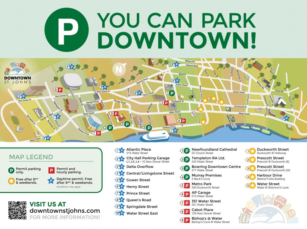 Downtown St. John's Parking Map | DcDesignHouse.ca