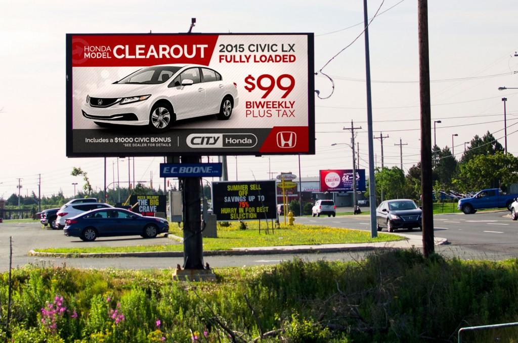 Honda: Natural-Gas billboard | Ads of the World™