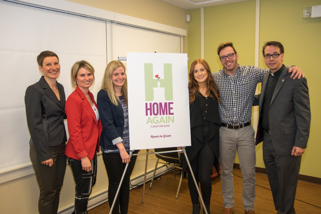 Group photo of Don-E, Erika, and Erin from Dc with the Home Again team.