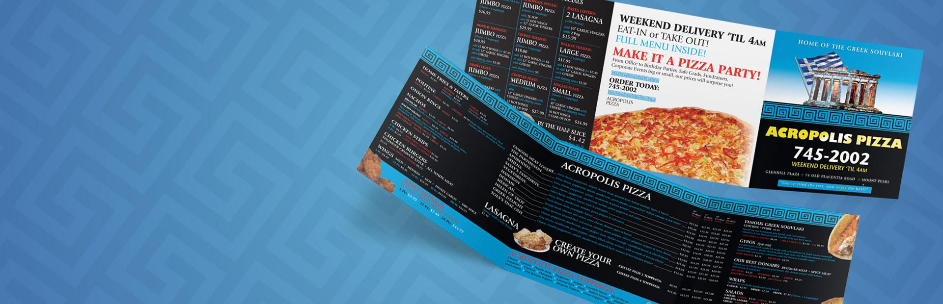 Menu for Acropolis Pizza