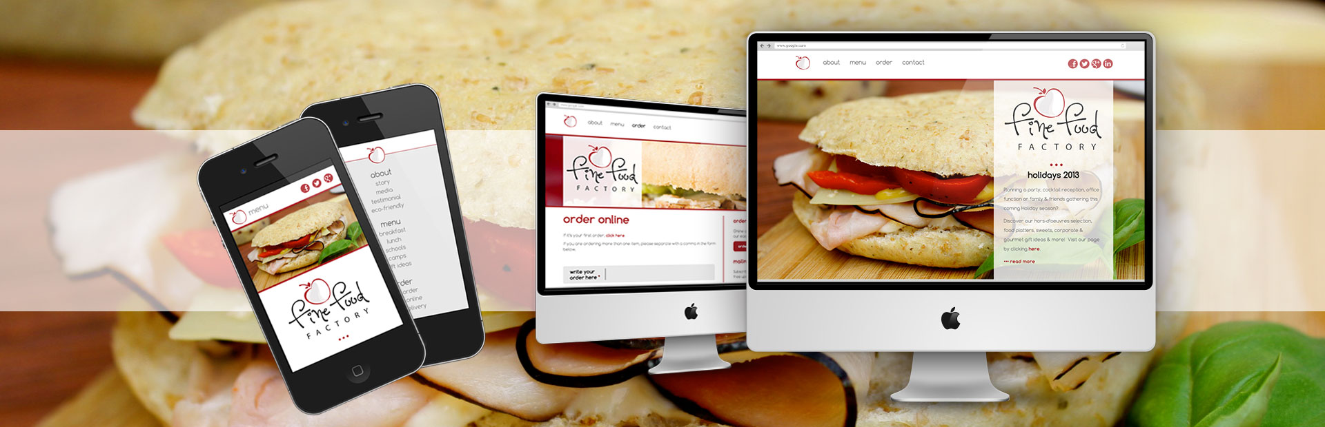 Website for Fine Food Factory