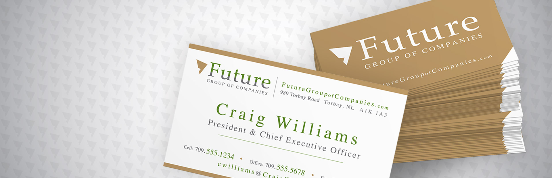 Business Cards for Future Group of Companies