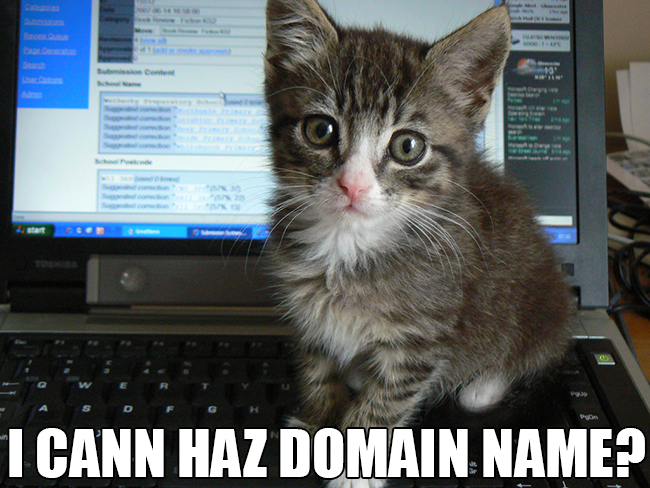 I can haz domain name?