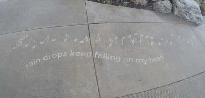 Rainy Day Sidewalk Art