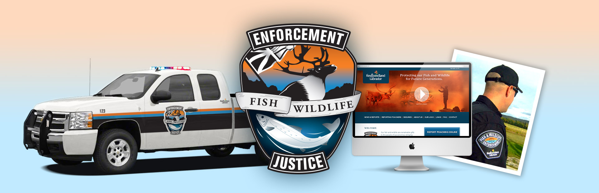 Branding for the Government of Newfoundland and Labrador – Department of Justice – Fisheries and Wildlife