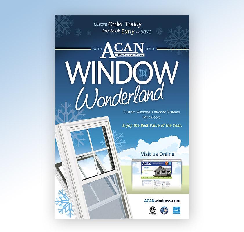 Acan 39 s window wonderland campaign dc design house for Window wonderland