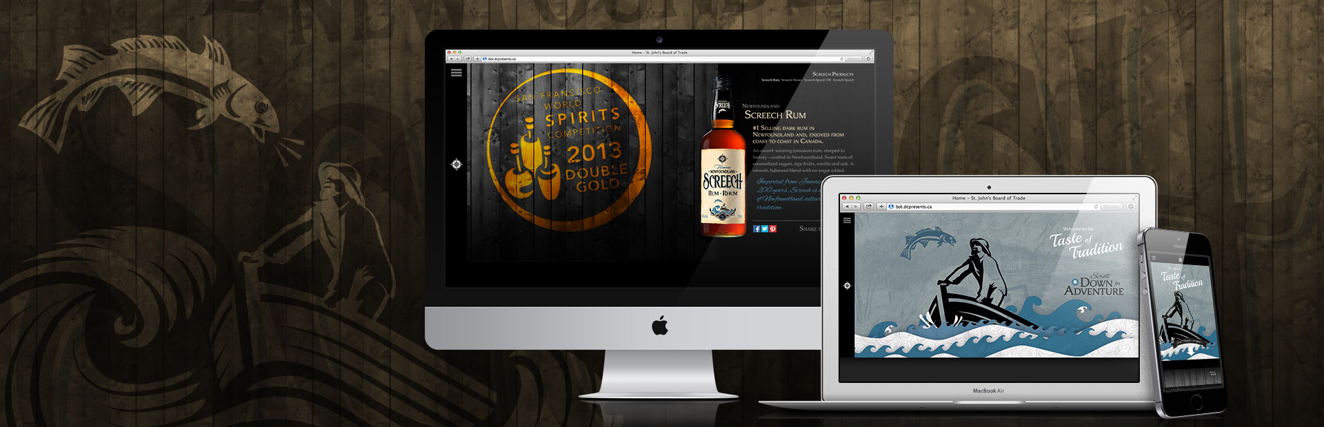 Screech Rum Website Redesign