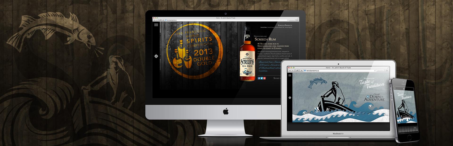 Screech Rum Website Redesign